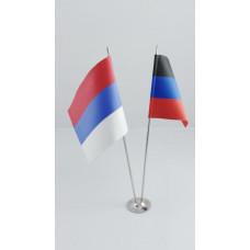 Флагшток двухрожковый металлический