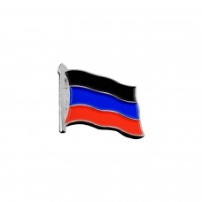 Значок флаг ДНР - серебряный