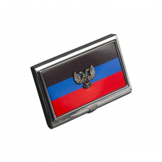 Визитница с гербом ДНР кожзам
