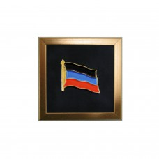 Значок на пиджак с флагом ДНР