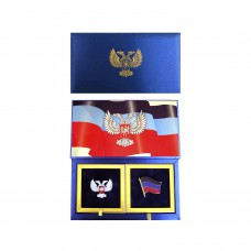 Набор значков сувенирный - с символикой ДНР
